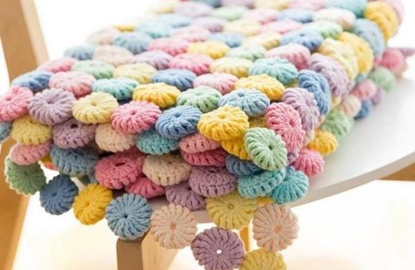How To Crochet Flower Baby Blanket - Easy Tutorial + Free Video
