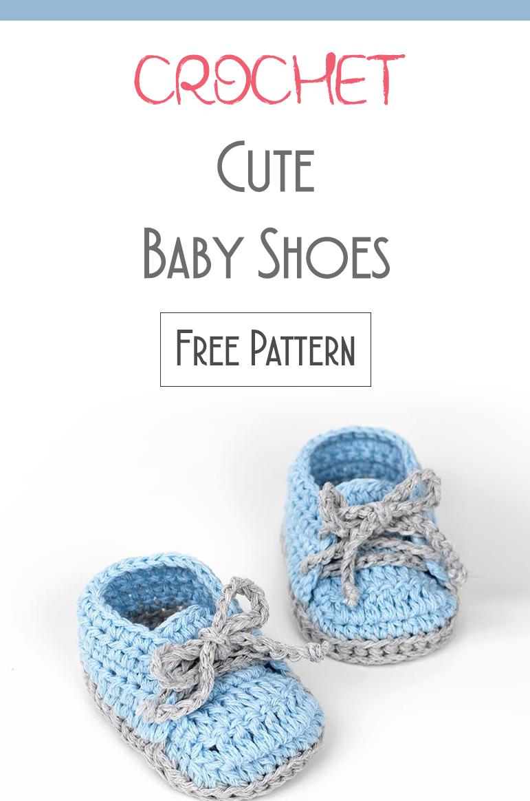 Crochet Cute Baby Shoes - Free Pattern