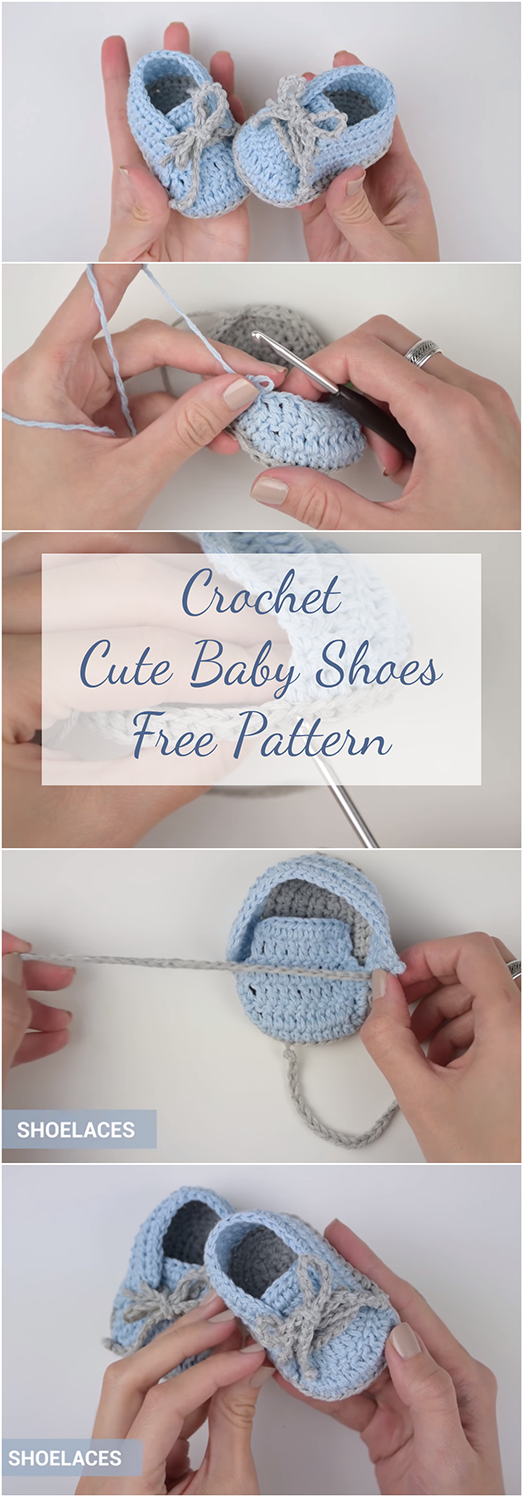 How To Crochet Cute Baby Shoes | Free Pattern + Easy Video Tutorial For Beginners