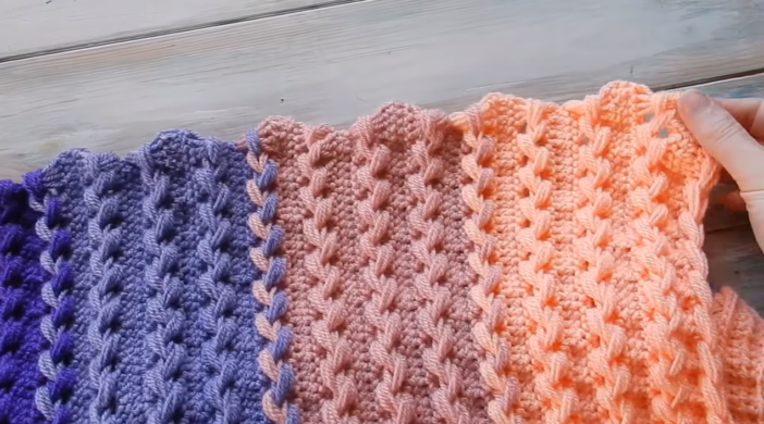 How to crochet a loop stitch baby blanket pattern - Step By Step Tutorial With Free Video