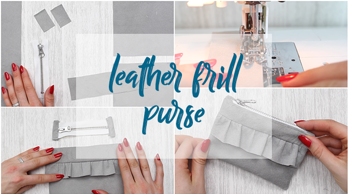 DIY - leather frill purse