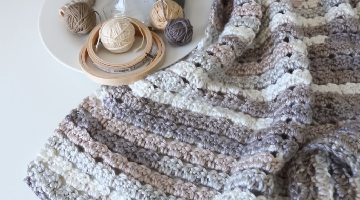 Crochet blanket pattern free tutorial