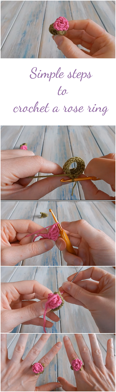 crochet a rose ring