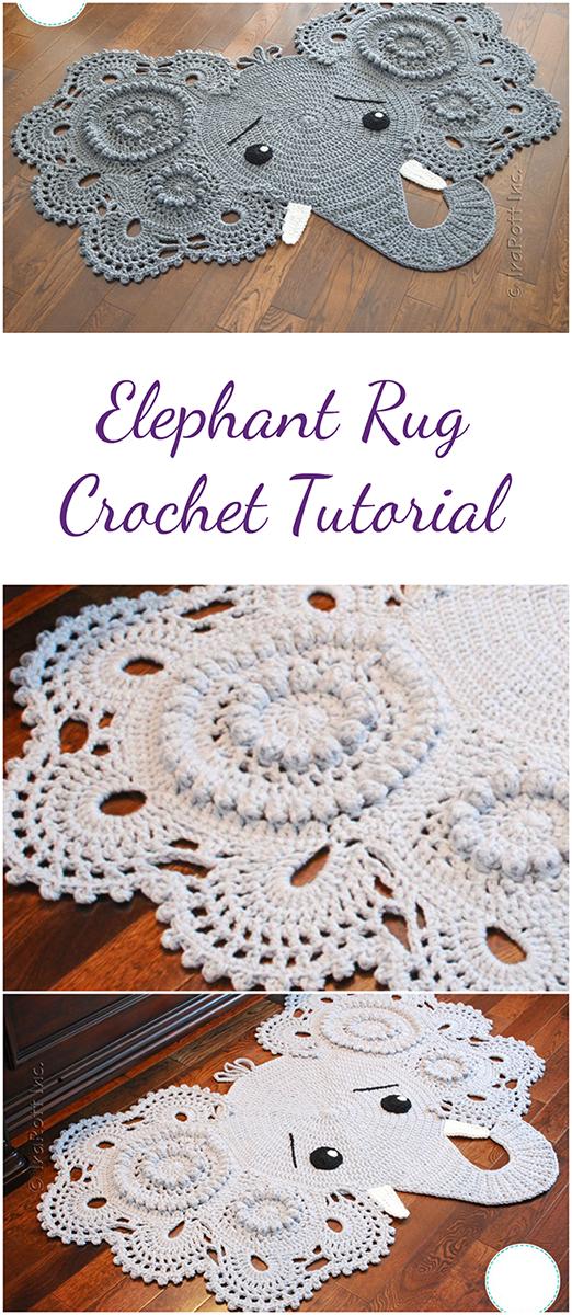 Elephant Rug   Amazing Pattern, Amazing Tutorial !
