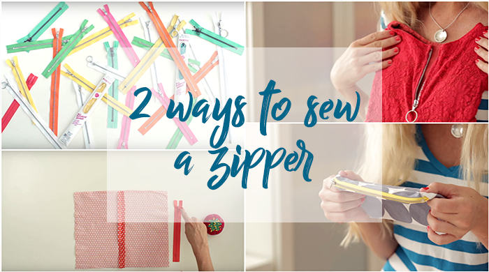 two ways to sew a zipper