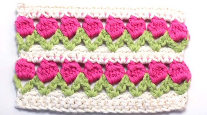 Crochet The Tulip Stitch Easy Tutorial Free Video