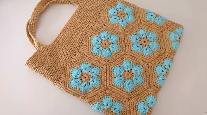 Best Step By Step Tutorial To Crochet A Bag With Hexagons With Video