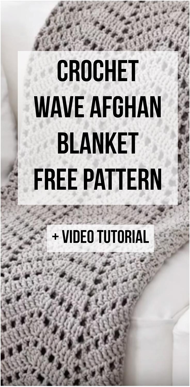 Crochet Wave Afghan Baby Blanket + Free Pattern + Step By Step Video Tutorial