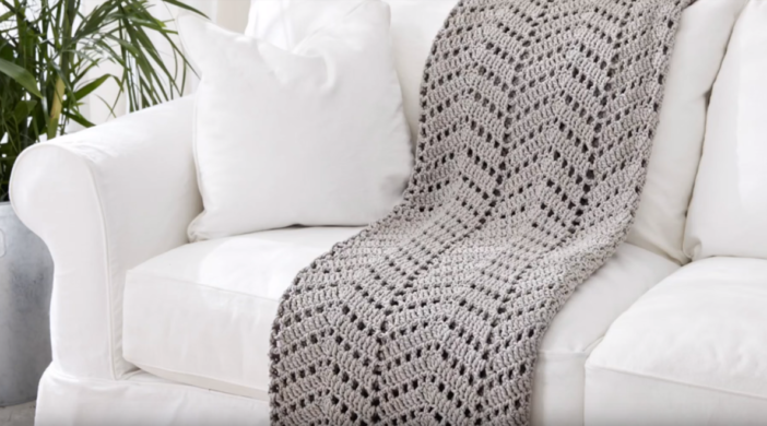 Crochet Wave Afghan Baby Blanket + Free Pattern + Step By Step Video Tutorial