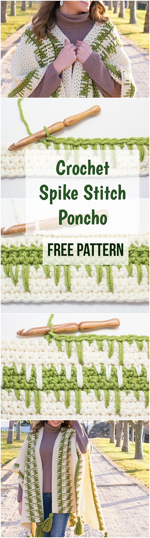Crochet Spike Stitch Poncho Free Video Tutorial Free Pattern