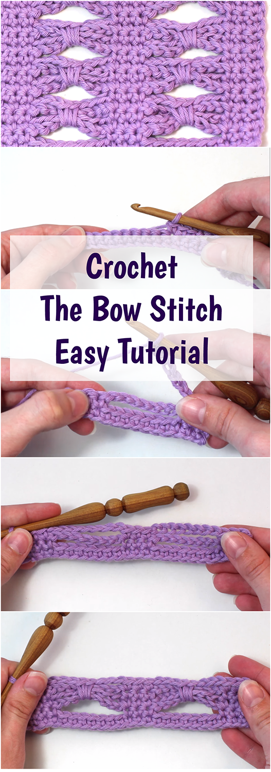 Crochet The Bow Stitch Easy Tutorial