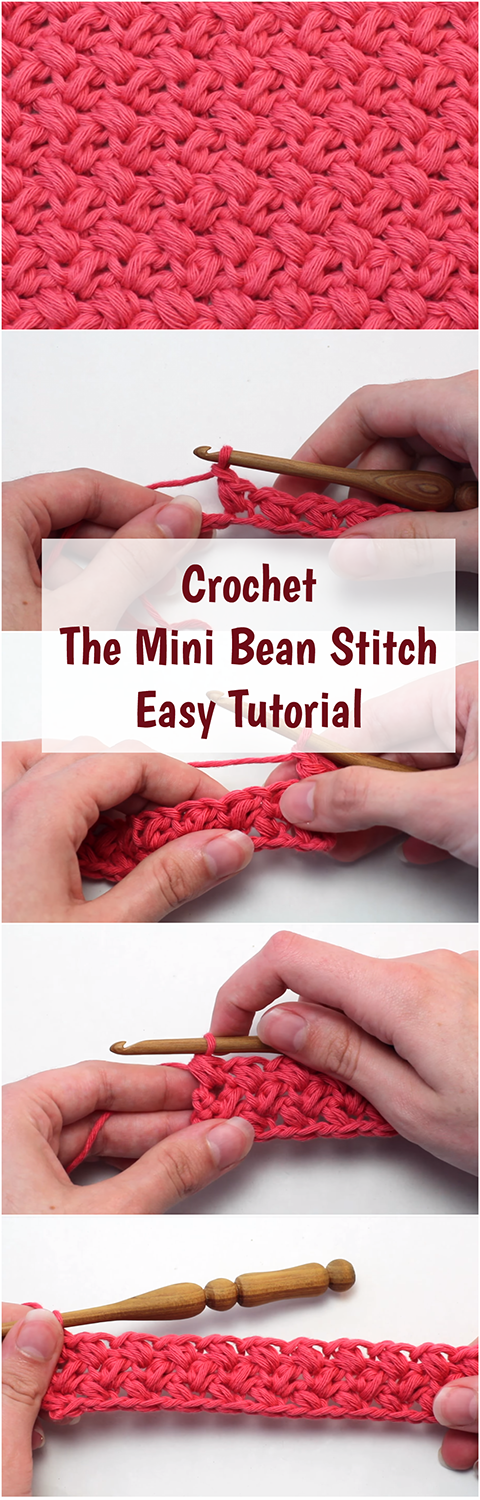 Crochet The Mini Bean Stitch Easy Tutorial