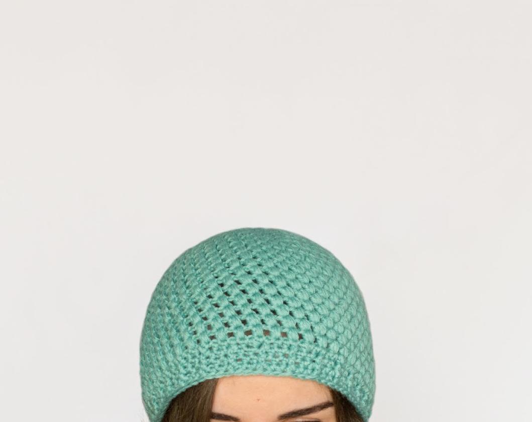 Crochet The Puff Stitch Beanie - Easy Tutorial + Pattern
