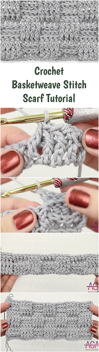 Crochet Basketweave Stitch Scarf Easy Beginner Guide Free Video