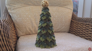 Crochet Crocodile Stitch Christmas Tree Easy Tutorial