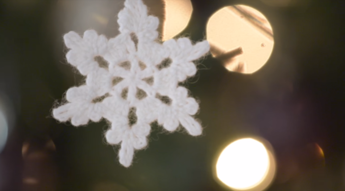 How To Crochet A Snowflake Ornament For Christmas Tree