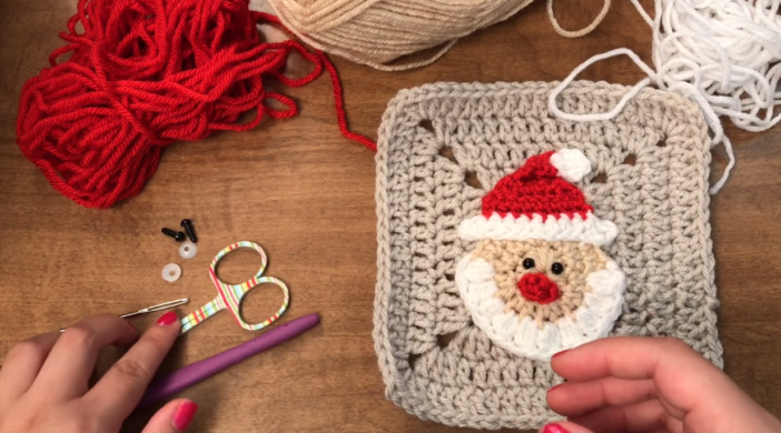 How To Crochet Granny Square Santa