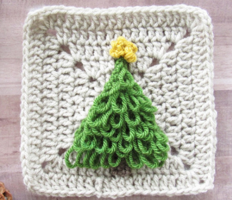 Crochet Christmas Tree Granny Afghan