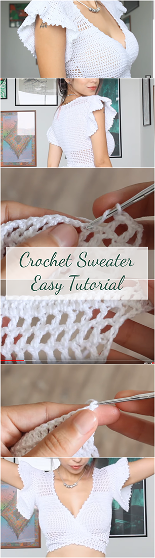 Crochet Sweater Easy Tutorial