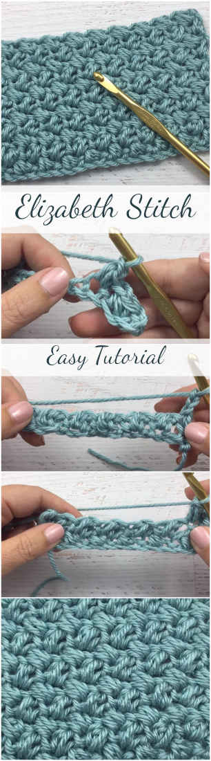 How To Crochet Elizabeth Stitch - Easy Tutorial