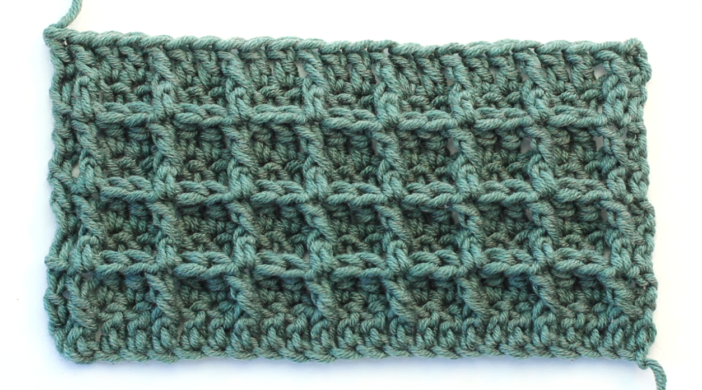 Crochet The Waffle Stitch Baby Blanket For Beginners Free Video