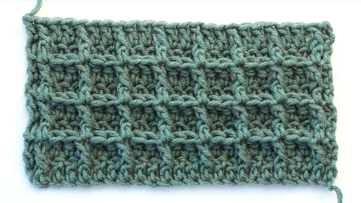 Crochet The Waffle Stitch Baby Blanket - For Beginners + Free Video