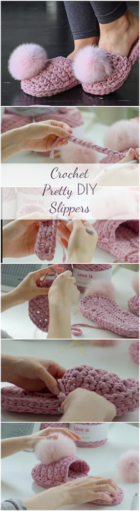 Crochet Pretty DIY Slippers