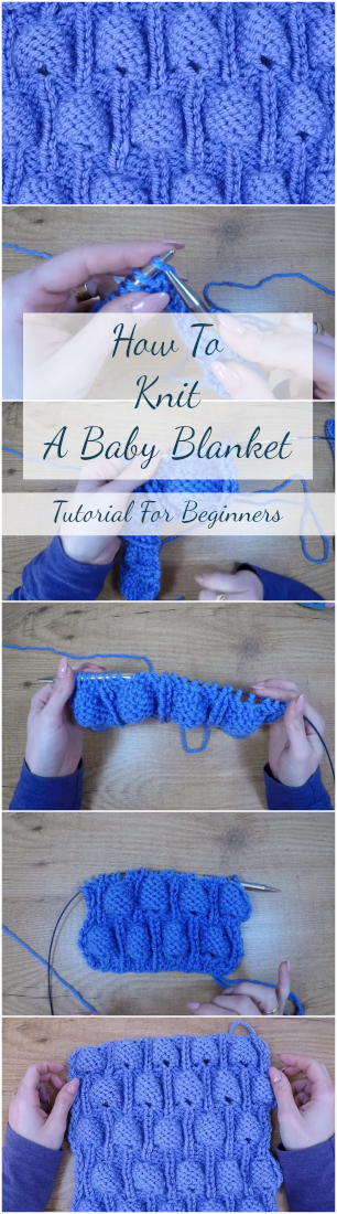 How To Knit A Baby Blanket Tutorial For Beginners