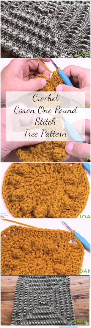 Crochet Caron One Pound Stitch Free Pattern