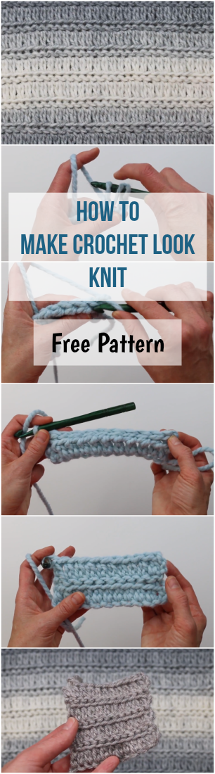 How to Make Crochet Look Knit Free Pattern