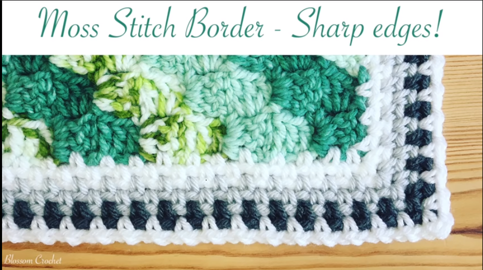 Crochet Moss Stitch Border Easy Tutorial Step By Step