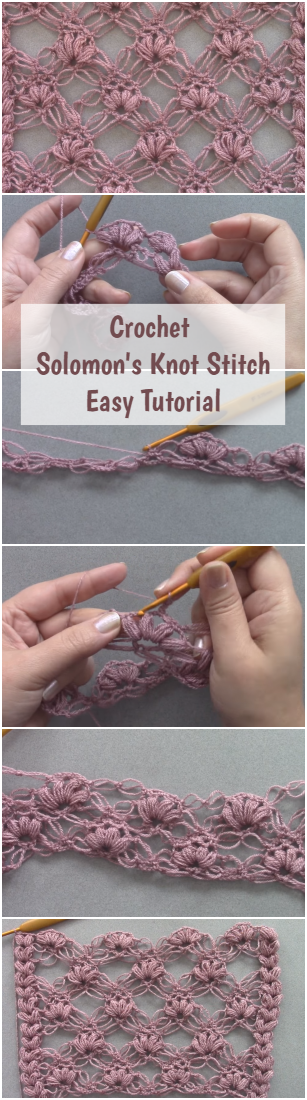 Crochet Solomon's Knot Stitch Easy Tutorial