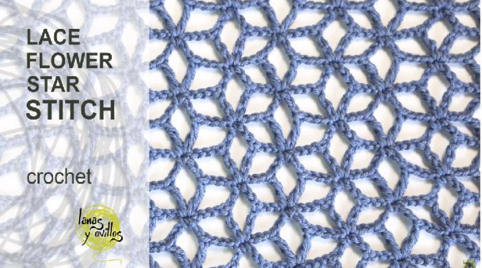 Crochet Lace Star Flower Crochet Stitch In English Easy Tutorial