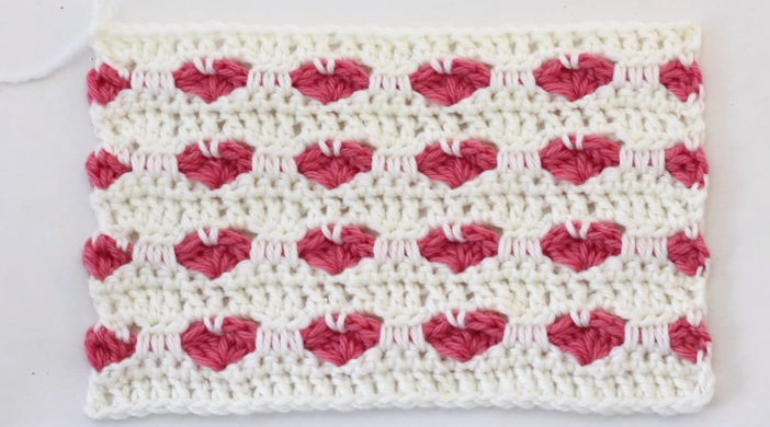 How To Crochet The Heart Stitch Baby Blanket Easy Tutorial