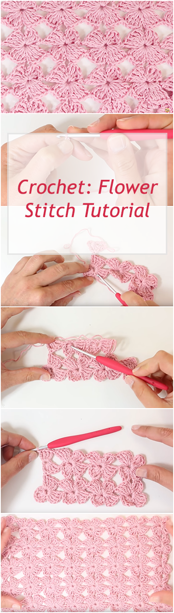 Punto Flores Ganchillo - Free & Easy Step By Step Crochet Tutorial