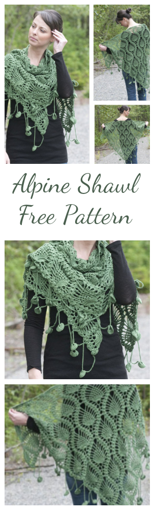 Crochet Alpine Shawl – Free Pattern