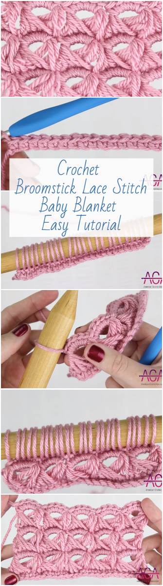 Crochet Broomstick Lace Stitch Baby Blanket Easy Tutorial