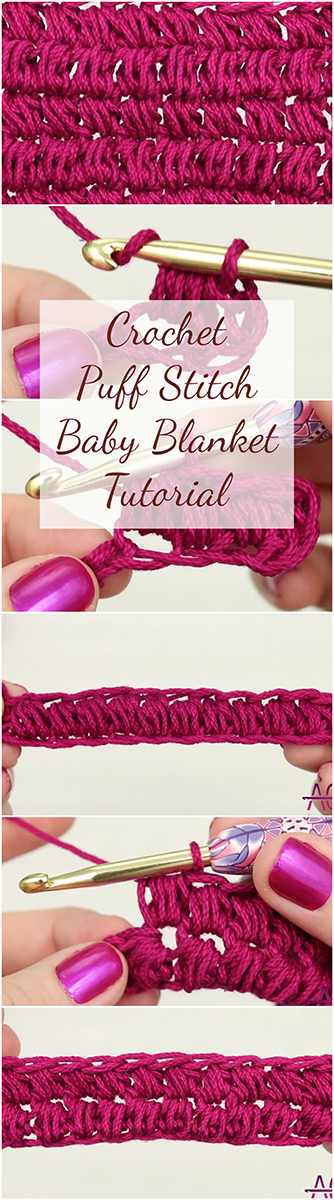 Crochet Puff Stitch Baby Blanket - Easy Tutorial