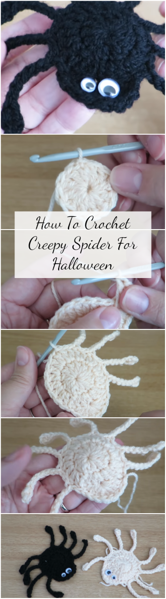 How To Crochet Creepy Spider For Halloween