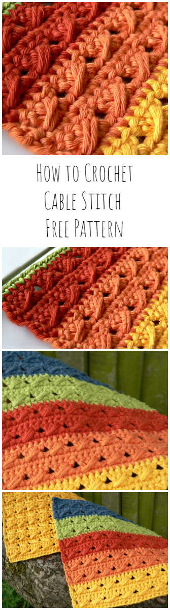 How to Crochet Cable Stitch Free Pattern