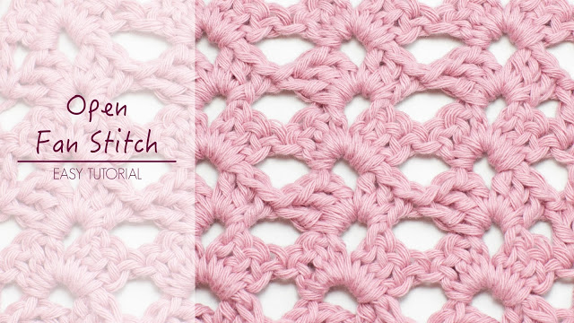 Crochet The Open Fan Stitch Baby Blanket - Easy Tutorial + Free Step-by-step Video For Beginners