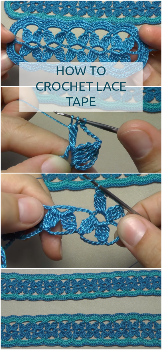 Crochet Lace Tape - Easy Beginner Tutorial With The Free Video Instructions