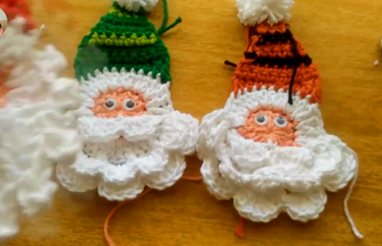 Crochet Simple Christmas Santa Applique