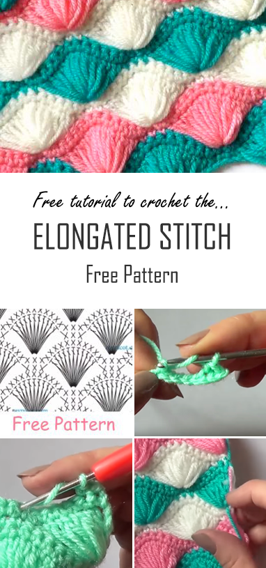 Crochet The Elongated Stitch Baby Blanket | Free Pattern