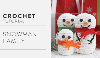 Crochet The Christmas Snowman Family - Easy Tutorial For Beginners